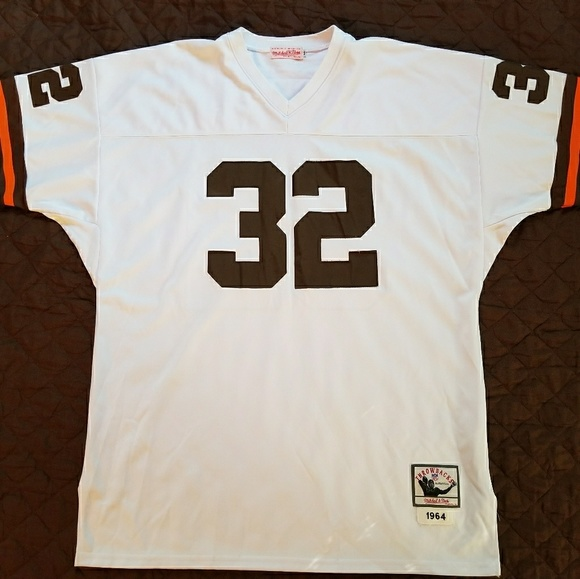 4ee96660 Jim Brown Cleveland Browns #32 Throwback Jersey. Boutique. Mitchell & Ness